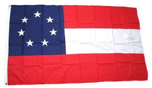 Fahne / Flagge Südstaaten Stars & Bars 90 x 150 cm