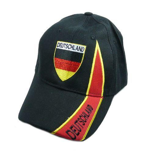 Basecap Deutschland schwarz