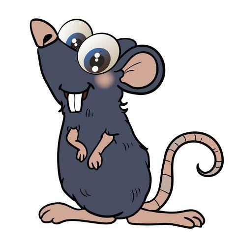 Aufkleber Sticker Ratte
