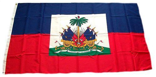 Flagge / Fahne Haiti Wappen Hissflagge 90 x 150 cm