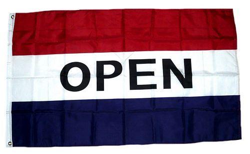 Fahne / Flagge OPEN / Offen 90 x 150 cm