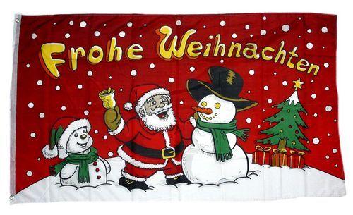 Fahne / Flagge Frohe Weihnachten Glocke 90 x 150 cm