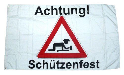 Fahne / Flagge Achtung Schützenfest 90 x 150 cm