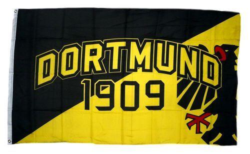 Fahne / Flagge Dortmund 1909 Wappen 90 x 150 cm