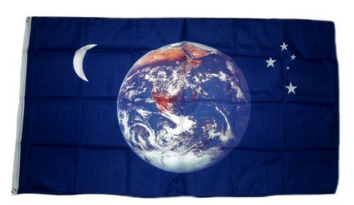 Fahne / Flagge Erde Mond & Sterne 90 x 150 cm