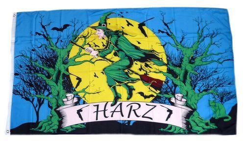 Fahne / Flagge Harz Hexe 90 x 150 cm