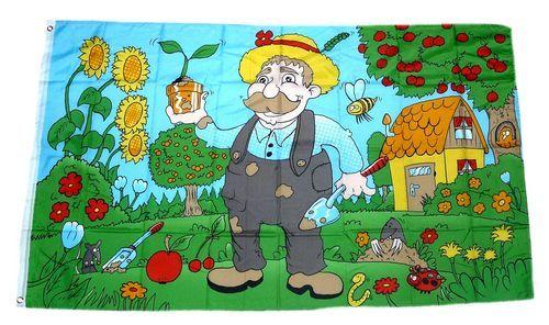 Fahne / Flagge Gartenfreund Garten 90 x 150 cm