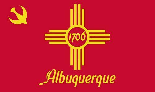 Fahne / Flagge USA - Albuquerque 90 x 150 cm