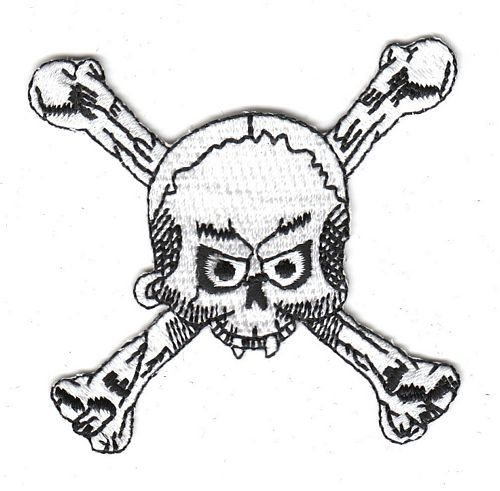 Aufnäher Patch Totenkopf Knochen