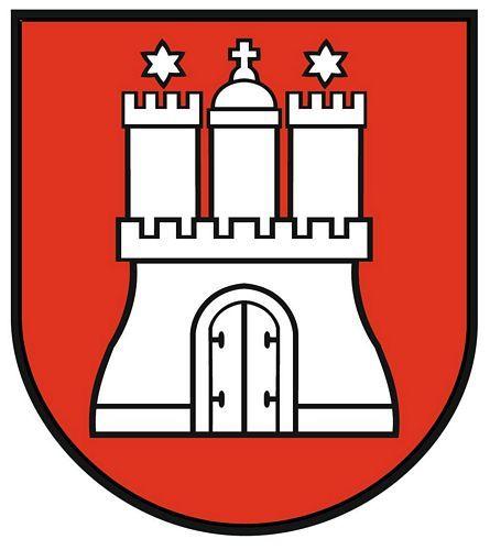 Wappenschild Aufkleber Sticker Hamburg
