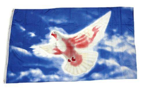 Fahne / Flagge Frieden Peace Taube 90 x 150 cm