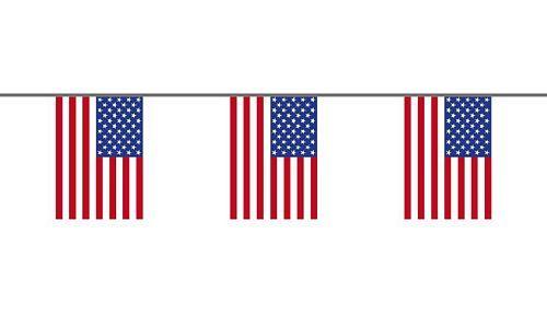 Flaggenkette USA 6 m