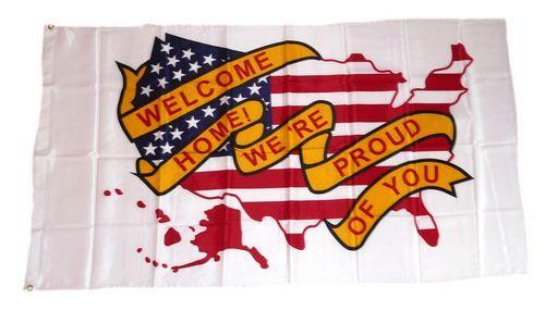 Fahne / Flagge Welcome Home 90 x 150 cm