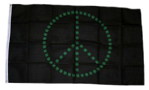 Fahne / Flagge Hanf Peace 90 x 150 cm