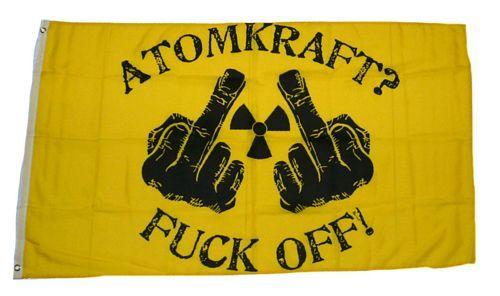 Fahne / Flagge Atomkraft? Fuck off! 90 x 150 cm