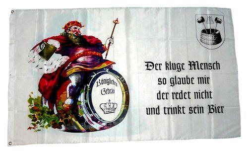 Fahne / Flagge Bier Königliches Gebräu 90 x 150 cm