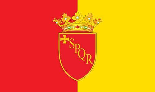Fahne / Flagge Italien - Rom Wappen 90 x 150 cm