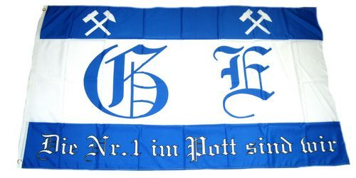 Fahne / Flagge Fußball Gelsenkirchen 90 x 150 cm