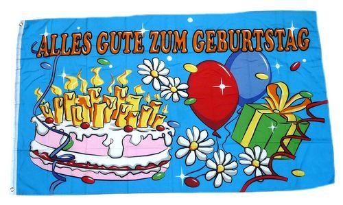 Fahne / Flagge Alles Gute zum Geburtstag 60 x 90 cm