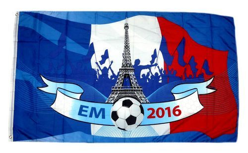 Fahne / Flagge EM 2016 Frankreich 60 x 90 cm