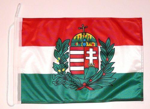 Bootsflagge Ungarn Wappen 30 x 45 cm