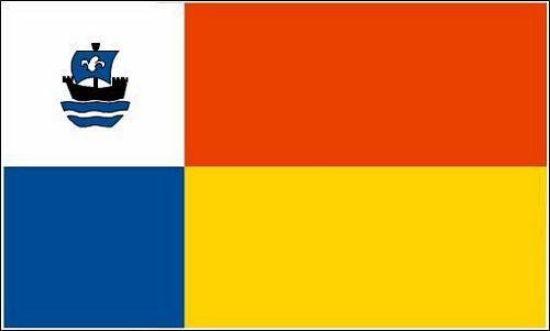 Fahne / Flagge Niederlande - Almere 90 x 150 cm