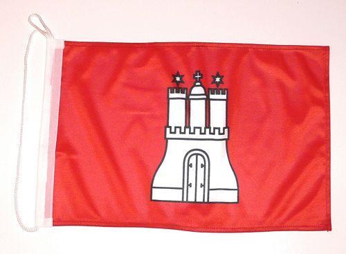 Bootsflagge Hamburg 30 x 45 cm