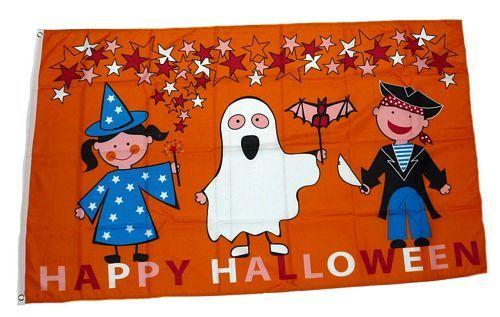 Fahne / Flagge Happy Halloween Kids 90 x 150 cm