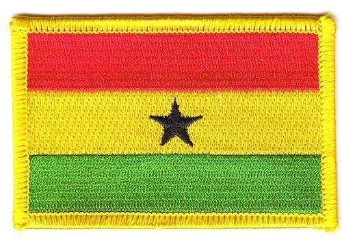 Fahnen Aufnäher Ghana