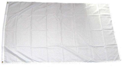 Fahne / Flagge Einfarbig Weiß 150 x 250 cm