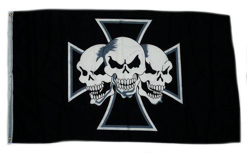 Fahne / Flagge Eisernes Kreuz Totenköpfe 90 x 150 cm