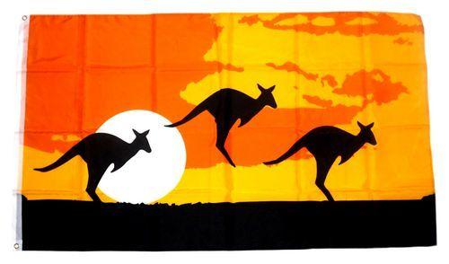 Fahne / Flagge Känguruh Silhouette 90 x 150 cm
