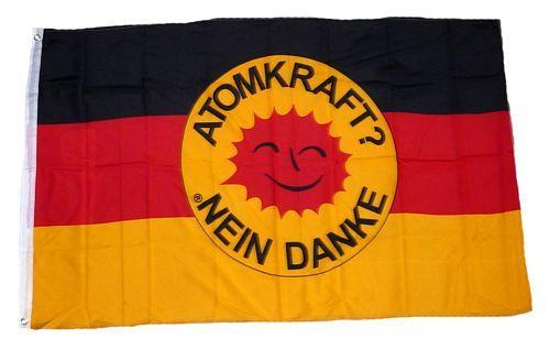 Fahne / Flagge Deutschland Atomkraft Nein Danke! 90 x 150 cm