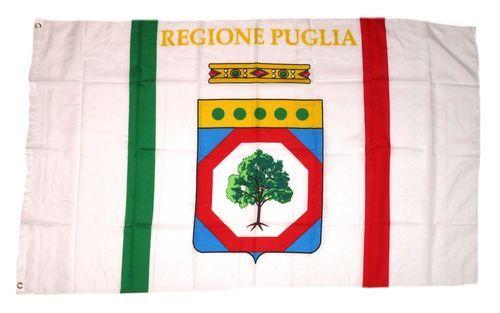 Fahne / Flagge Italien - Apulien Puglia 90 x 150 cm