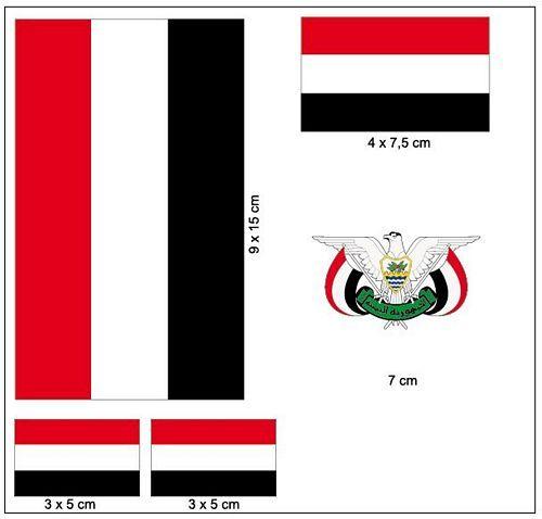 Fahnen Aufkleber Set Jemen