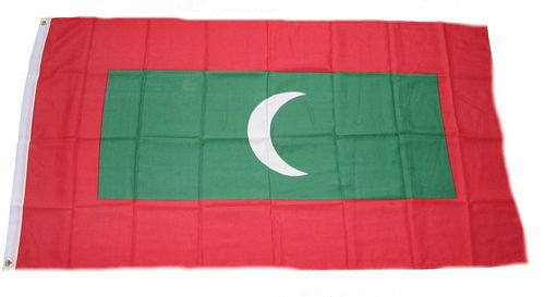 Flagge / Fahne Malediven Hissflagge 90 x 150 cm