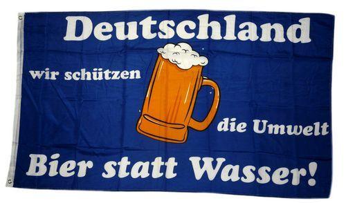 Fahne / Flagge Deutschland Bier statt Wasser 90 x 150 cm