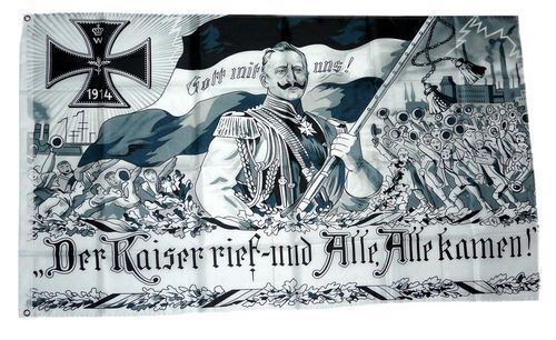 Fahne Flagge Deutsches Reich Kaiser Wilhelm Deutschland
