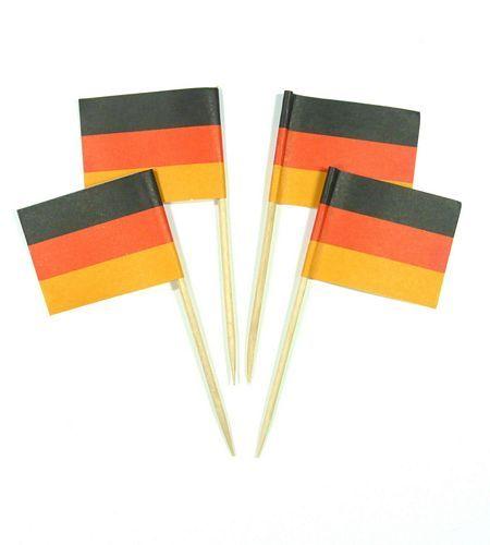 50 Minifahnen Dekopicker Deutschland 30 x 40 mm