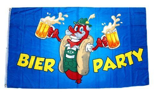 Fahne / Flagge Bier Party 90 x 150 cm