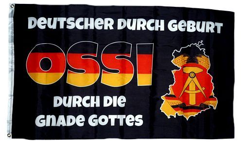 Fahne / Flagge Ossi durch die Gnade Gottes 90 x 150 cm