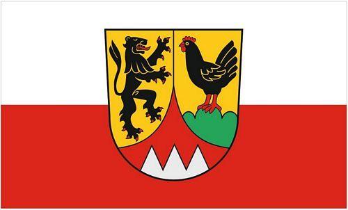 Fahne / Flagge Landkreis Hildburghausen 90 x 150 cm