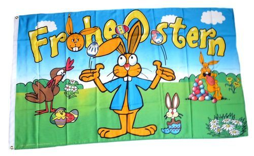 Fahne / Flagge Frohe Ostern Eier 90 x 150 cm