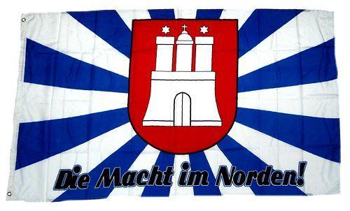 Fahne / Flagge Hamburg Macht im Norden 90 x 150 cm