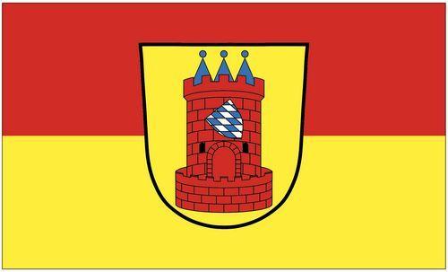 Fahne / Flagge Höchstadt Donau 90 x 150 cm