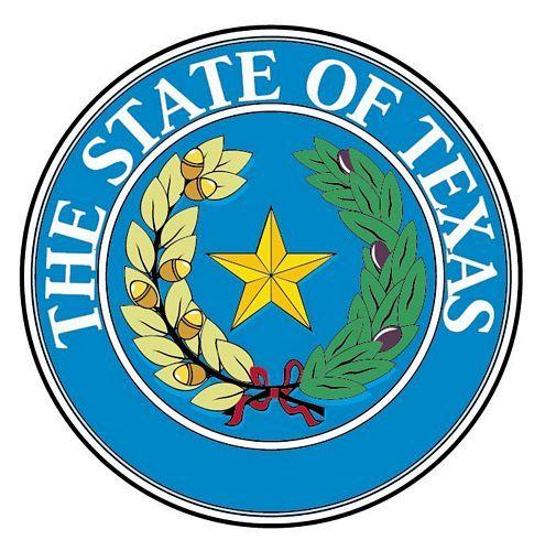 Fahnen Aufkleber Sticker Siegel USA - Texas