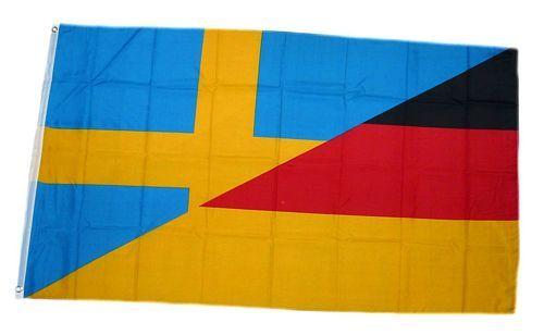 Fahne / Flagge Deutschland / Schweden 90 x 150 cm
