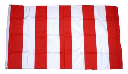 Fahne / Flagge rot / weiß Streifen 90 x 150 cm