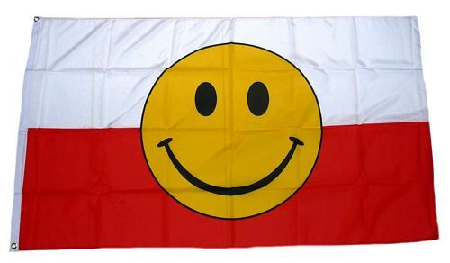Fahne / Flagge Polen Smile 90 x 150 cm