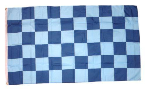 Fahne / Flagge Karo blau / hellblau 90 x 150 cm